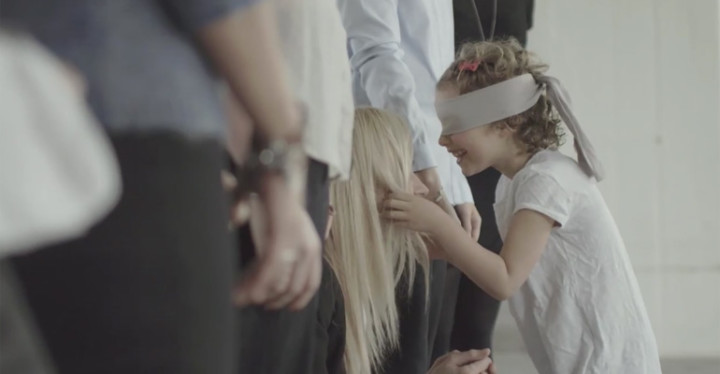 """Blindfolded Kids Find Their Moms in Pandora Commercial entitled """"The Unique Connection""""."""