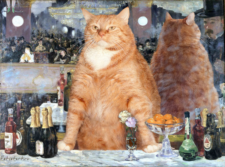 Fat Cat Photobombs Famous Works Of Art And It Is Hilarious - 20 hilarious cat photobombs