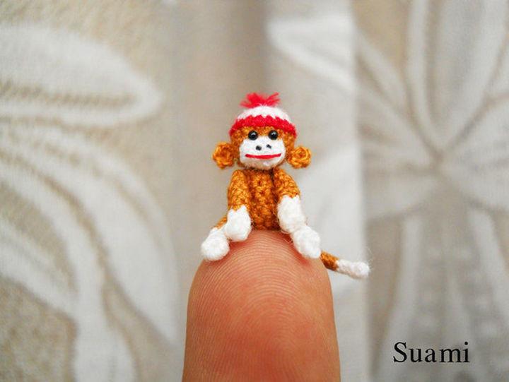 Happy crochet sock monkey.