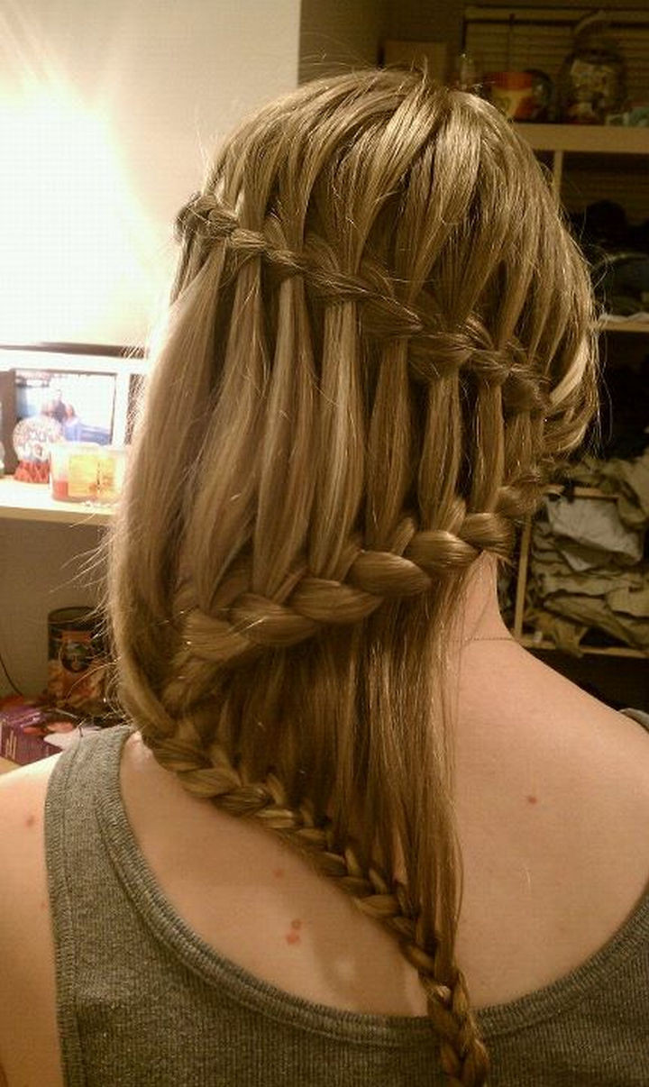 17 Disney Princess Hairstyles - A cascading waterfall braid.