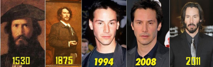 20 Celebrity Historical Doppelgangers - Keanu Reeves is older than you think.