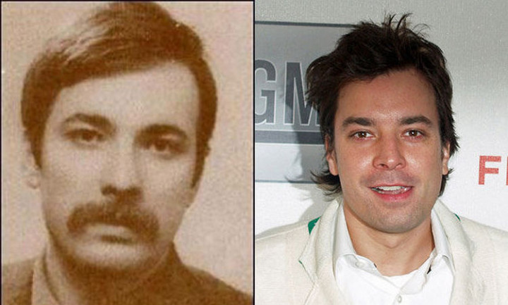 20 Celebrity Historical Doppelgangers - Jimmy Fallon and Turkish revolutionist Mahir Canyan.