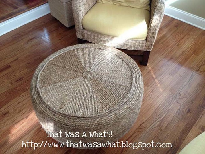 22 Awesome Ways to Turn Used Tires Into Something Great - A beautiful and unique ottoman you won't find in a store.
