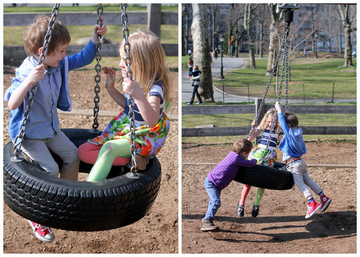 22 Awesome Ways to Turn Used Tires Into Something Great - Build a classic tire swing.