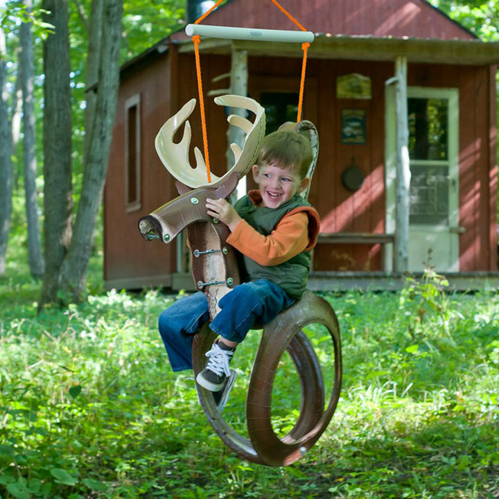 22 Awesome Ways to Turn Used Tires Into Something Great - Make an animal-themed tire swing.