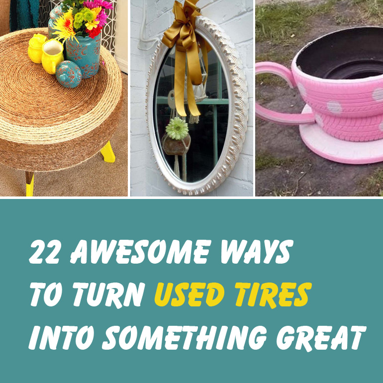 22 Awesome Ways to Turn Used Tires Into Something Great