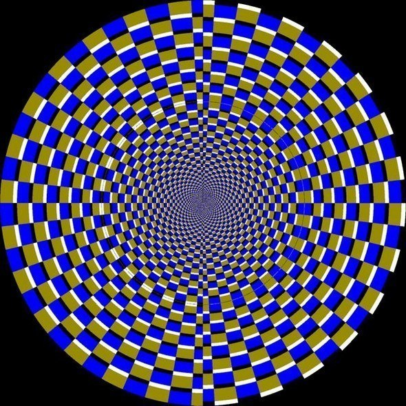 24 Awesome Optical Illusions -No, it's not moving. It's a still image.