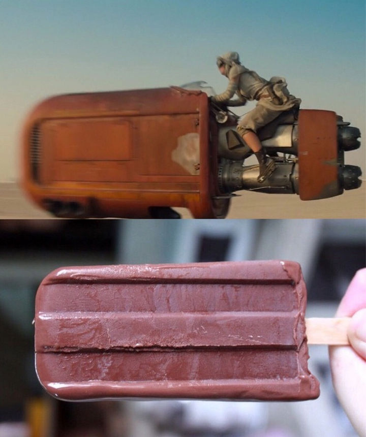 25 Things That Can't Be Unseen - The new speeder in Star Wars looks like an oversized Fudgesicle.