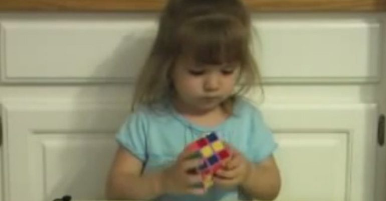 A 3-Year-Old Girl Picked up a Rubik's Cube and Amazed Her Entire Family. She's Incredible!