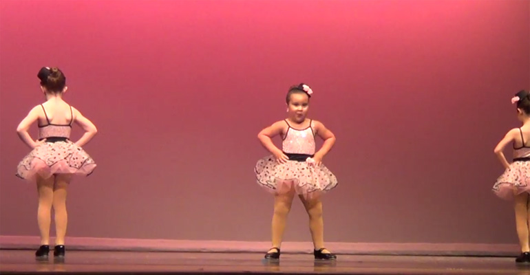 When This Tiny Dancer Begins to Dance, She Gets 'Respect' and Plenty of Cheers