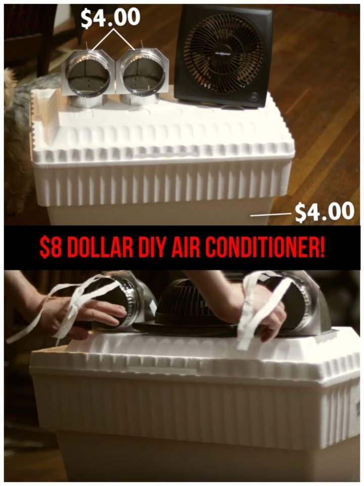 $8 Homemade DIY Air Conditioner Helps You Stay Cool This Summer.
