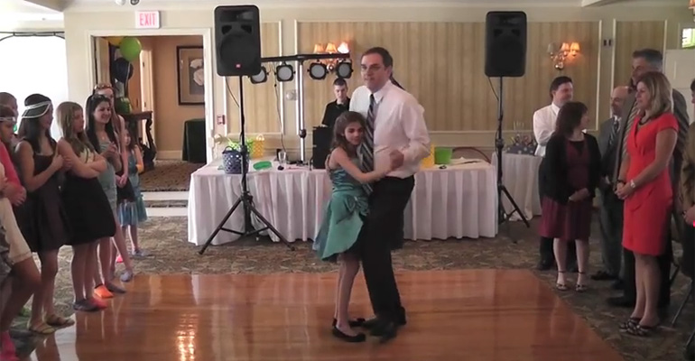 Father Dances with His Young Daughter and You'll Be Cheering.