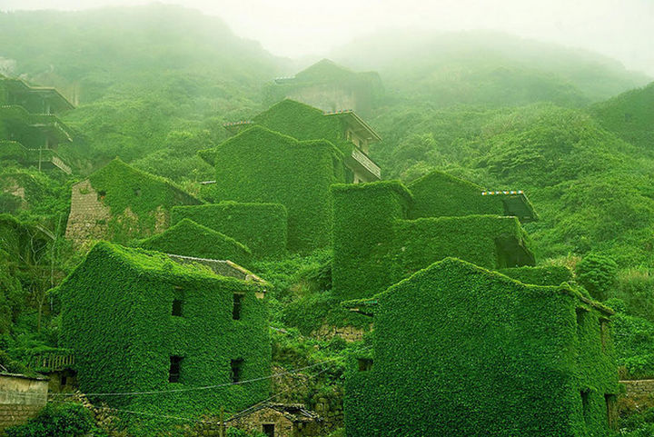 A village once filled with people going about their daily lives...