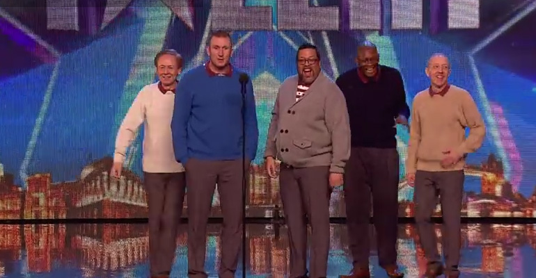Five Older Men Walk on Stage and the Audience Is Skeptical.