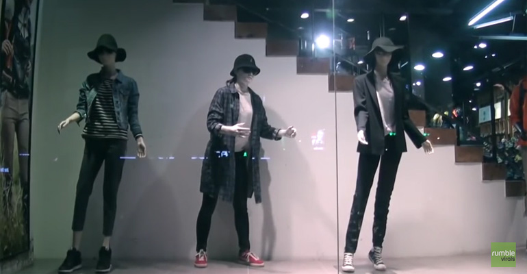 These Mannequins Looked Like Any Other Until One of Them Started Moving to the Music