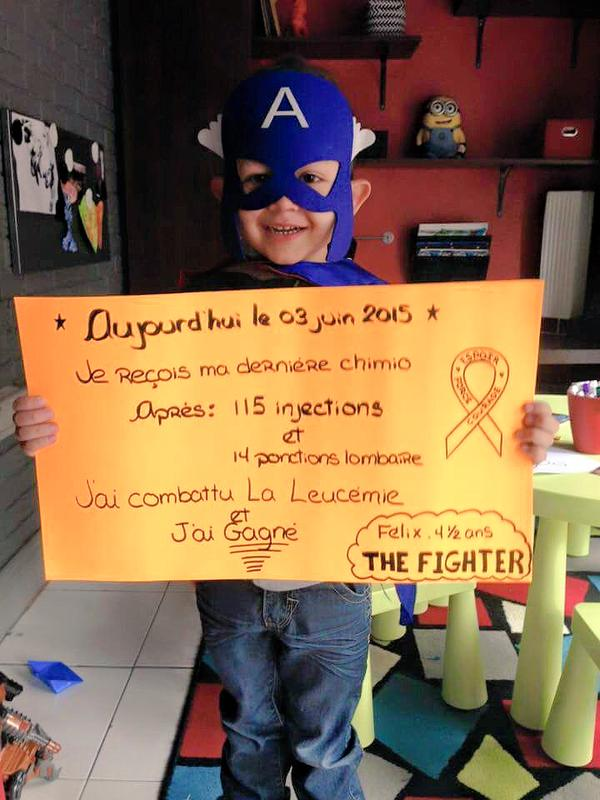 4 1/2 year old Felix truly is a superhero for winning his courageous battle against Leukemia.
