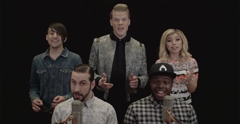 Pentatonix Perform an A Cappella Mashup of Michael Jackson Hits. This Michael Jackson evolution mashup is perfect.