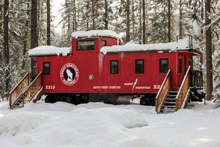 This is the original caboose of the Great Northern X215 freight train that would pass through Essex in 1941 but it looks nothing like it did on the inside.