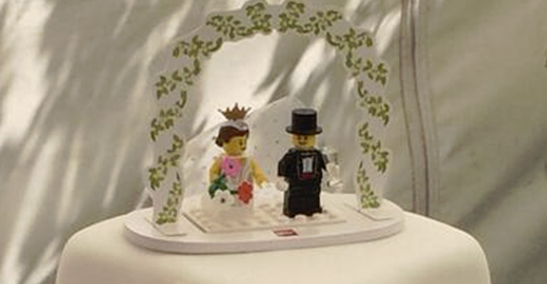 This Custom LEGO Wedding Cake Is a LEGO Lover's Dream.