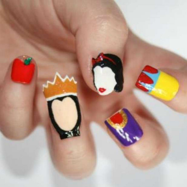 18 Disney Nails That Look Beautiful with Magical Nail Art