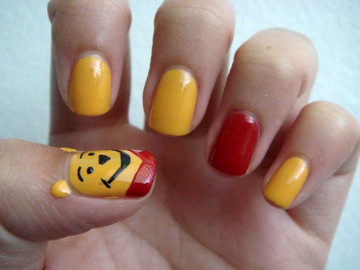18 Disney Nails - Winnie the Pooh.
