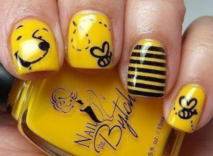 18 Disney Nails - Winnie the Pooh Nail Art.
