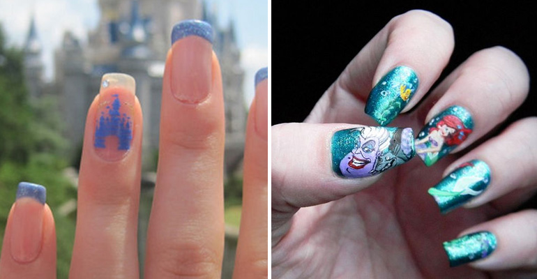18 Disney-Inspired Manicures That Look Beautiful and Magical.