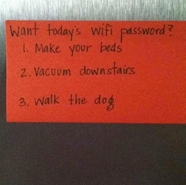 21 Hilarious Parents - Want your kids to do their chores? These parents are simply genius.