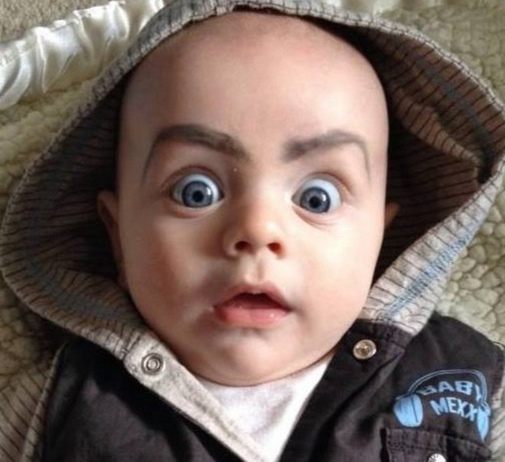 21 Hilarious Parents - Parents having a little too much fun with a Sharpie.