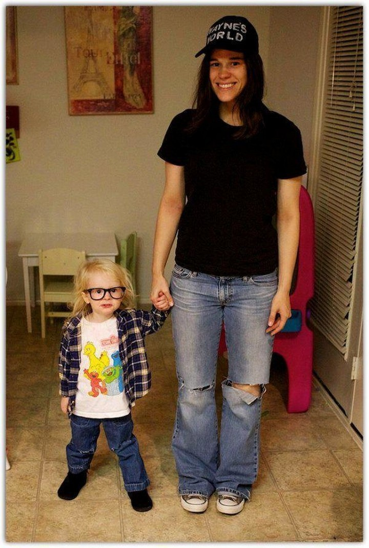 "21 Hilarious Parents - Mother and daughter who like to ""party on"" at Halloween."
