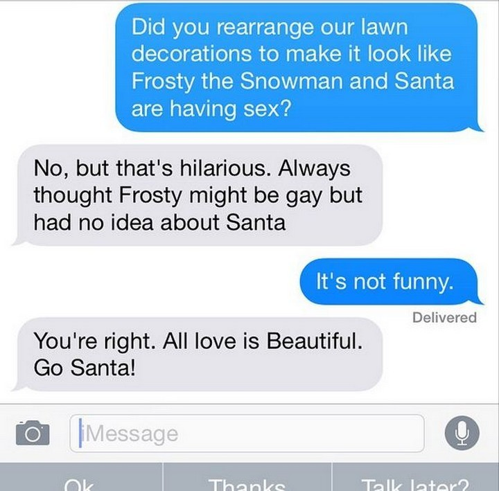 25 Hilarious Texts Between Neighbors - All love is beautiful.