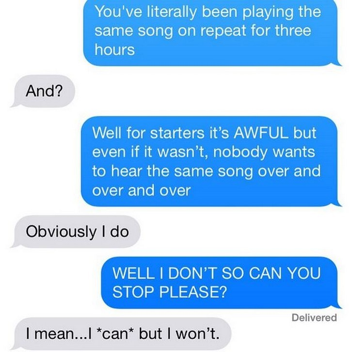 25 Hilarious Texts Between Neighbors - One dedicated music listener.