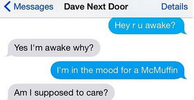 25 Hilarious Text Messages Between Neighbors.