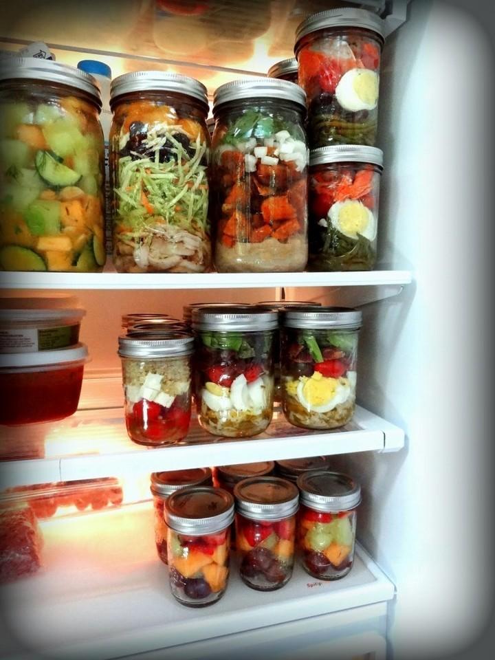 28 Food Storage Hacks - Use Mason jars instead of plastic containers.