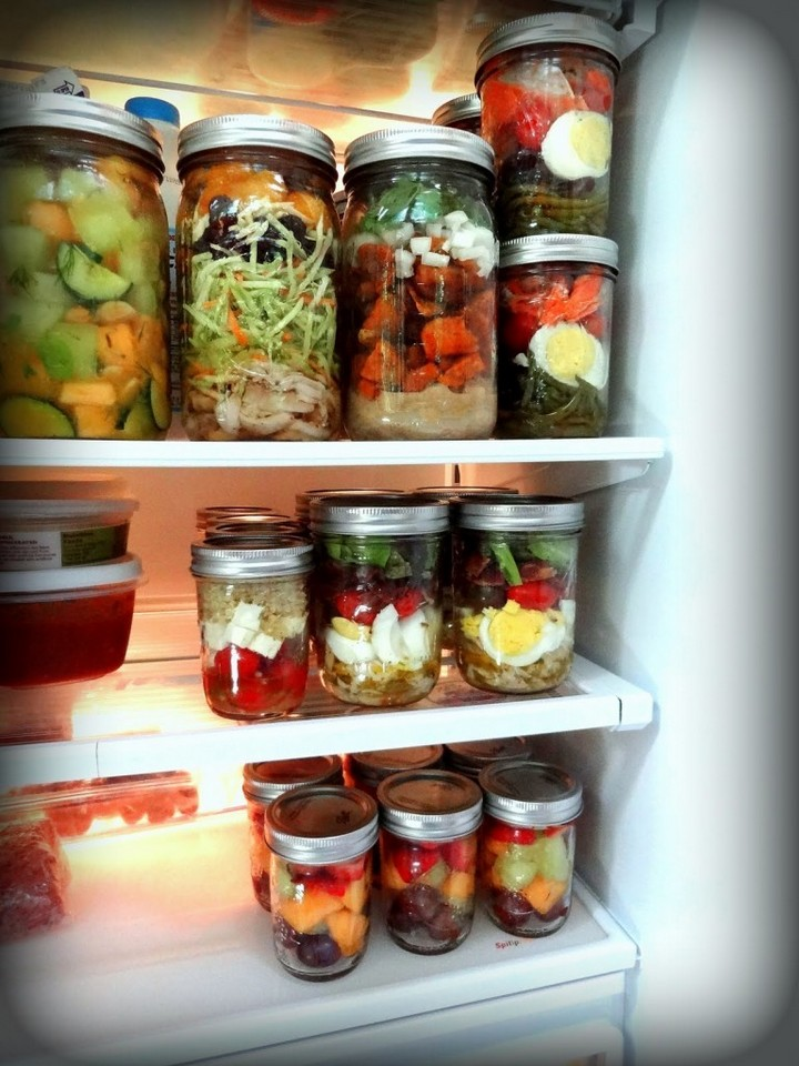28 Food Storage Hacks - Use Mason jars instead of plastic containers.