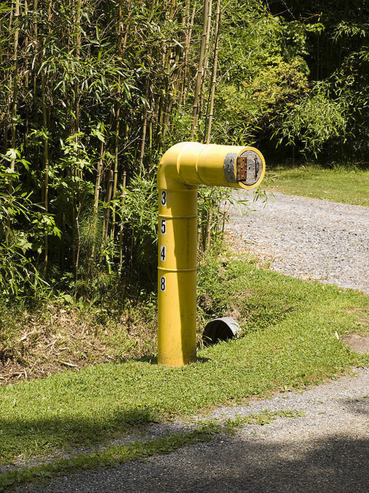 28 Unique Mailboxes That Are So Funny - Where this pipe leads, nobody knows.