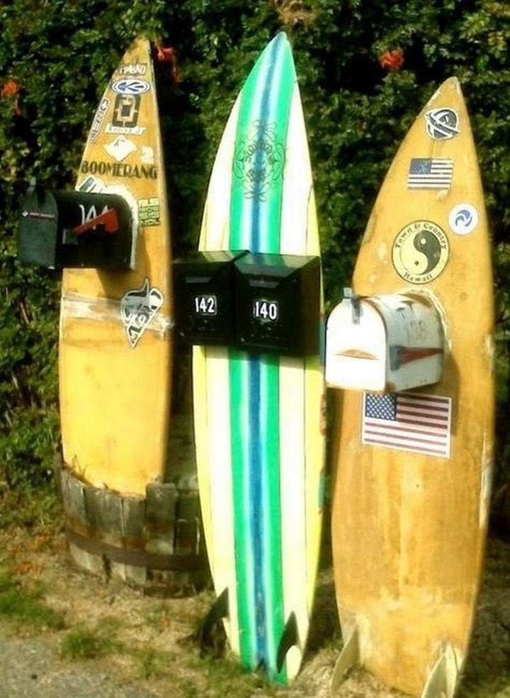 28 Unique Mailboxes That Are So Funny - Surf's up mail!
