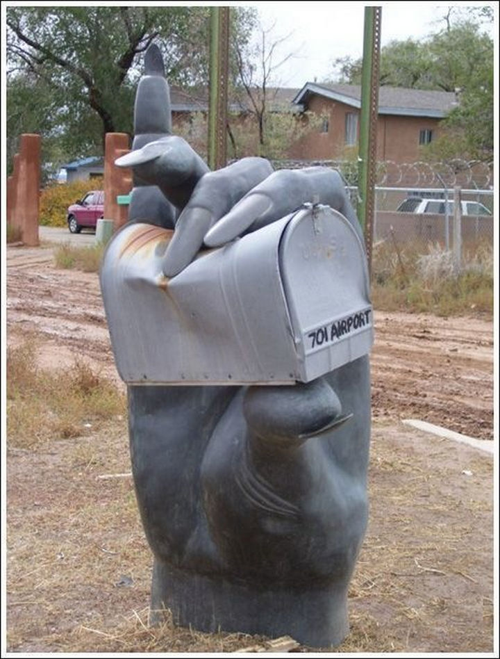 28 Unique Mailboxes That Are So Funny - Mail crushing.