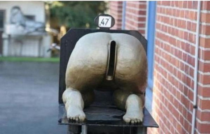 28 Unique Mailboxes That Are So Funny - I wonder if this mailbox is for junk mail only?