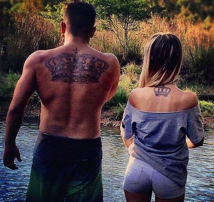 35 couple tattoos - Royal couple tattoos.