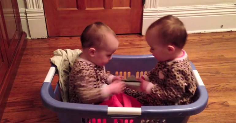 A Mother Caught Her Twins in the Laundry Basket. What They Were Doing Is Hilarious!