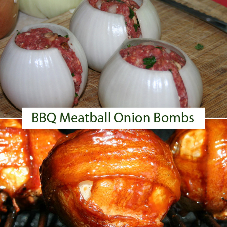 BBQ Meatball Onion Bombs Recipe Is a Summer BBQ Favorite