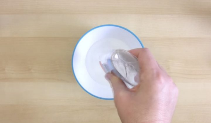 How to make weird slime - Step 3: In a bowl, pour a 4 or 5-ounce bottle of clear glue.