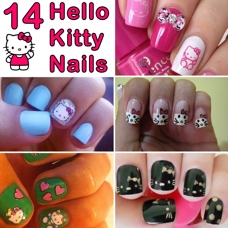 14 hello kitty nails and nail art that are simply too adorable 14 hello kitty nails and nail art that are simply too adorable prinsesfo Gallery
