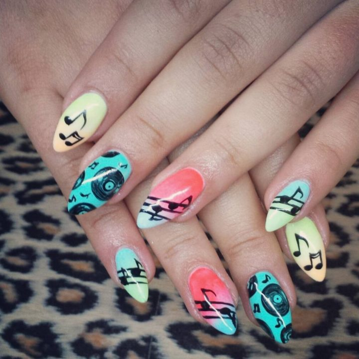 18 Music Nails - A retro look back at music.