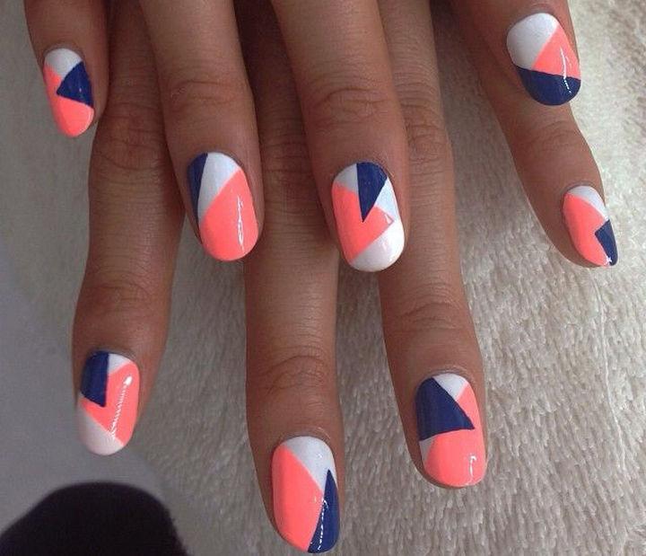18 Striped DIY Nail Designs - Fun Spring nail art. - 18 Nail Tape Striped DIY Nail Designs That Are Easy To Create