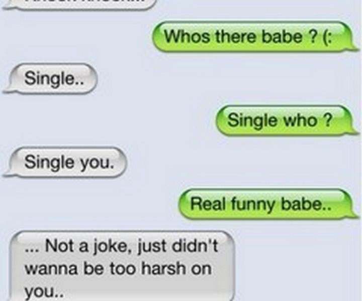 22 Breakup Text Messages - Breaking the tension with a knock-knock joke.