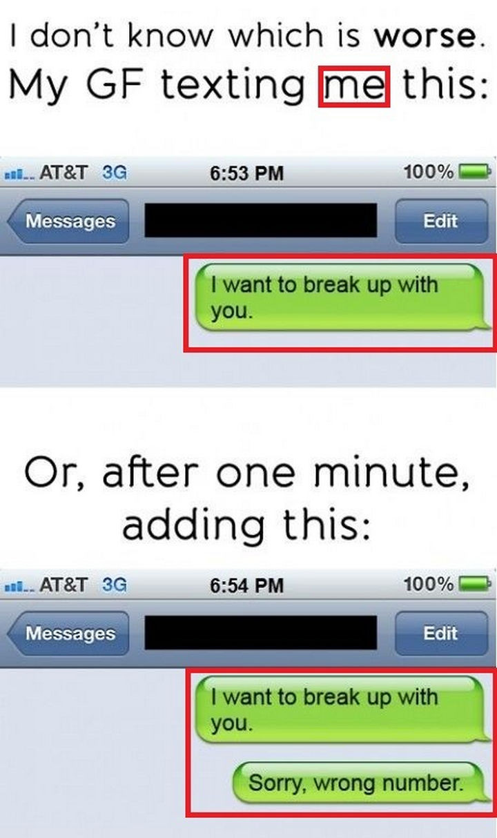 22 Breakup Text Messages - That was awkward.