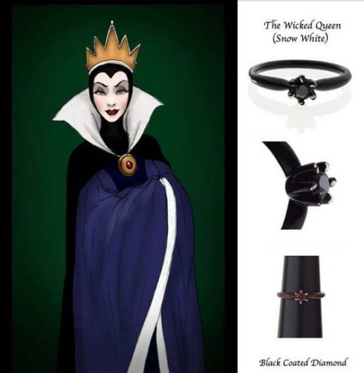 The Wicked Queen - 22 Disney Princess Engagement Rings.