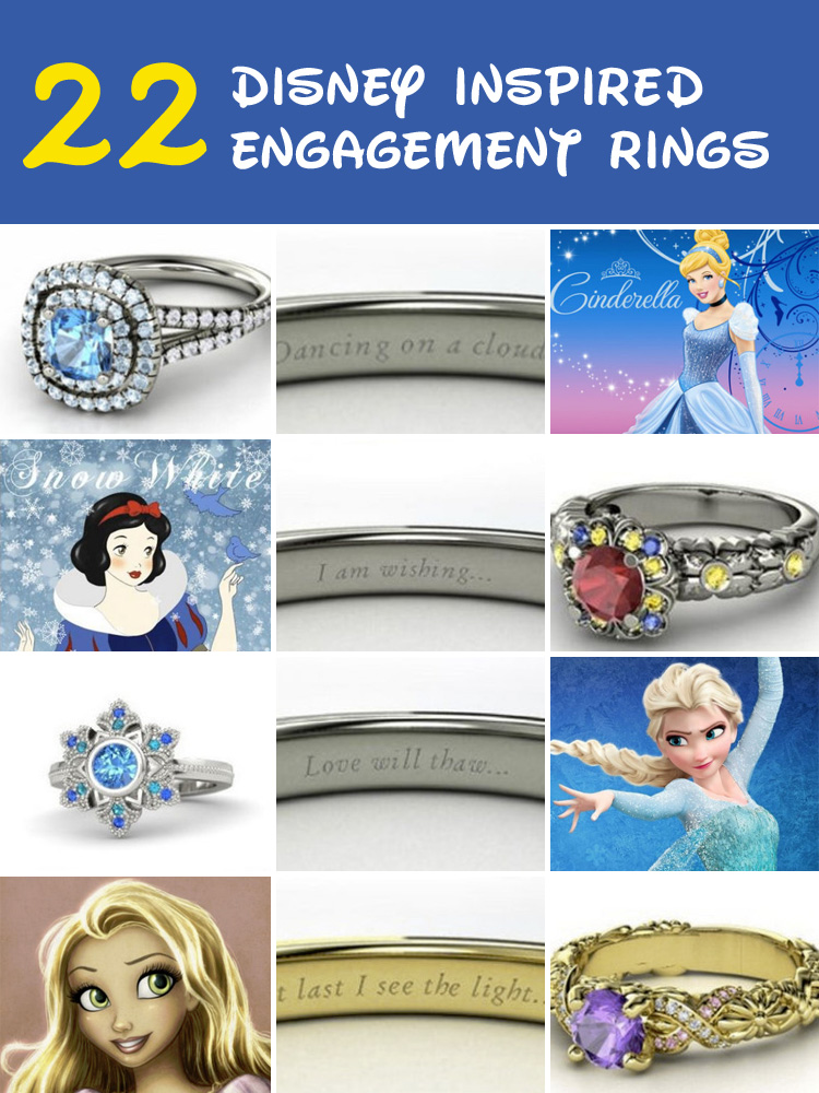 22 disney inspired engagement rings that will make you feel like a princess - Disney Inspired Wedding Rings